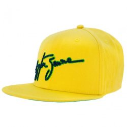 2017, Yellow, Adult, Senna Brazil Flag Baseball Cap