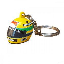 2018, Yellow, Senna 1988 Helmet Keyring