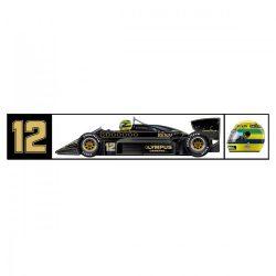 2018, Black, Senna Team Lotus Sticker