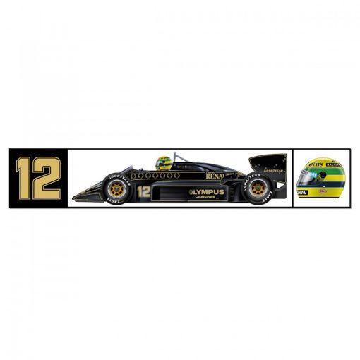 Senna Team Lotus Sticker, Black, 2018 - FansBRANDS