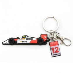 2017, White, Senna McLaren MP4/4 Keyring