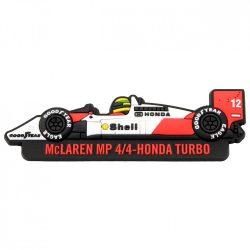 2017, White, Senna McLaren Fridge magnet