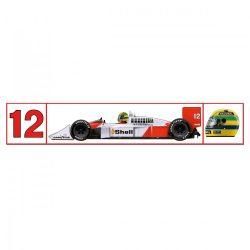 2018, White, Senna McLaren 1988 Sticker