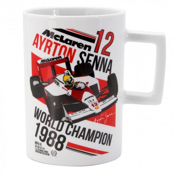 2017, White, 300 ml, Senna McLaren Champion Mug