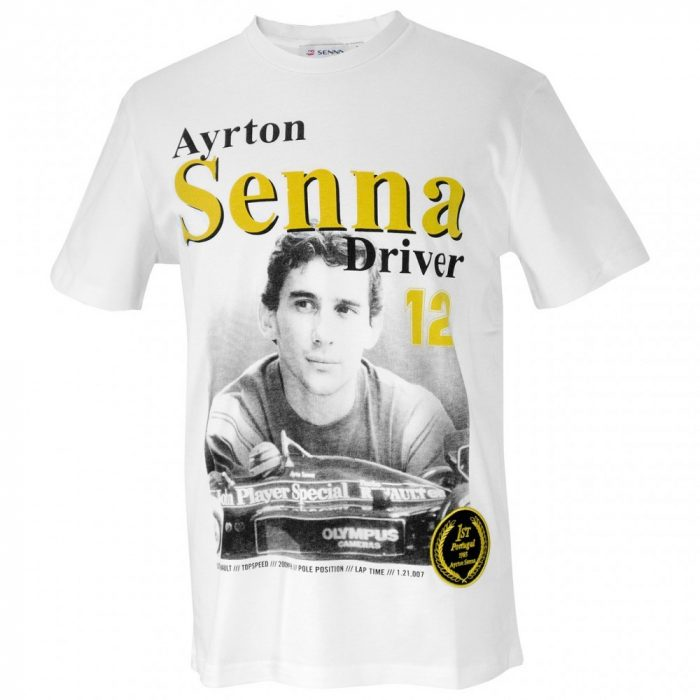 2016, White, XL, Senna Round Neck 1985 T-shirt