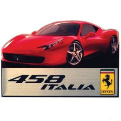 2019, Red, Ferrari 458 Italia Fridge Magnet