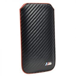2014, Black, M, BMW Carbon Phone Case