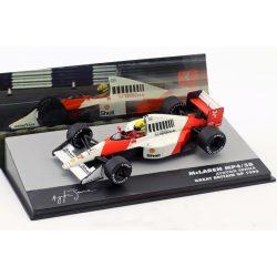 2019, White, 1:43, Senna McLaren MP4/5B British GP 1990 Model Car