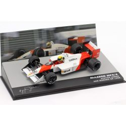 2019, White, 1:43, Senna McLaren MP4/4 San Marino GP 1988 Model Car
