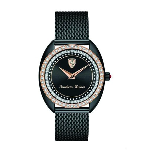 2019, Black, Ferrari Donna Quartz Womens Watch