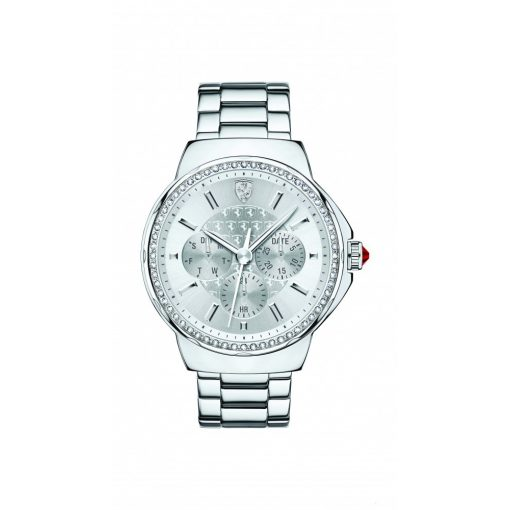 Ferrari Donna Scudetto Womens Watch, Silver, 2019 - FansBRANDS