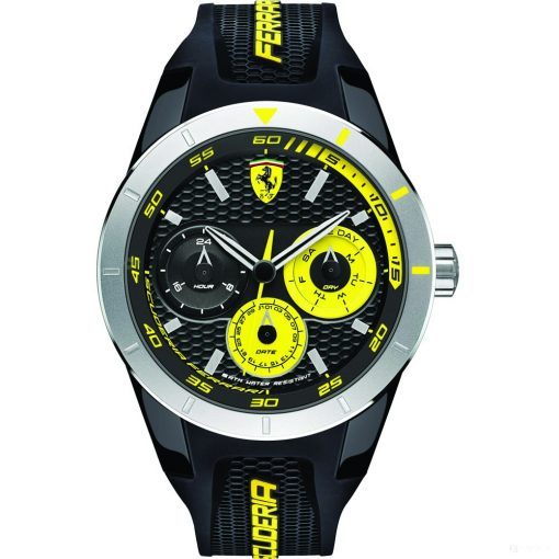 Ferrari Redrev T Mens Watch, Black-Yellow, 2019 - FansBRANDS
