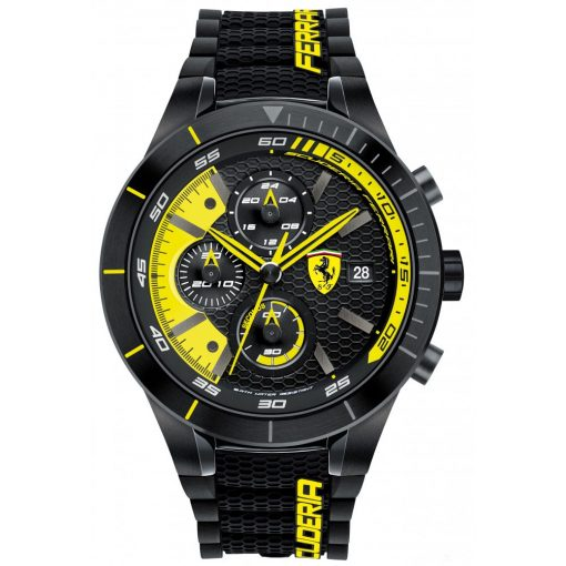 Ferrari Redrev EVO Mens Watch, Black-Yellow, 2019 - FansBRANDS