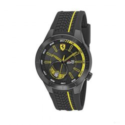 2019, Black-Yellow, Ferrari Redrev EVO Quartz Mens Watch