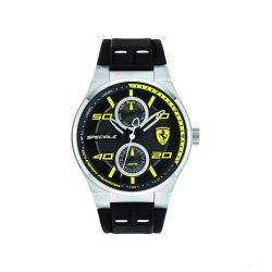 2019, Black-Yellow, Ferrari Multifunction Mens Watch