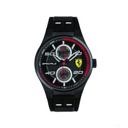 2019, Black-Red, Ferrari Multifunction Mens Watch