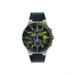 2019, Black-Yellow, Ferrari Special EVO Chrono  Mens Watch