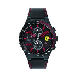 2019, Black-Red, Ferrari Special EVO Chrono  Mens Watch