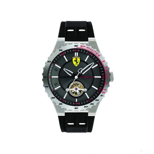 Ferrari Special EVO Automatic Mens Watch, Silver-Black, 2019 - FansBRANDS