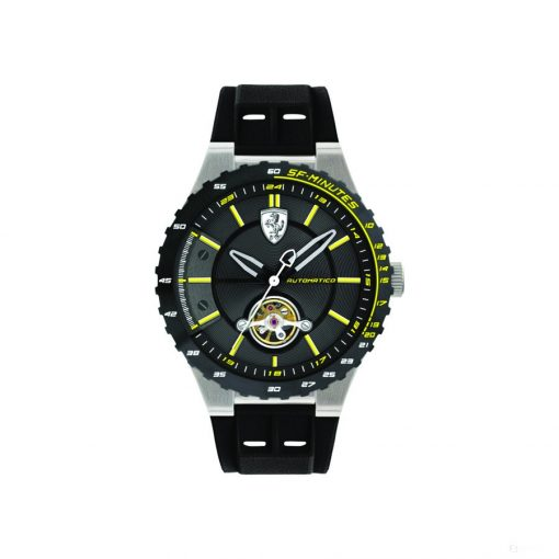 Ferrari Special EVO Automatic Mens Watch, Black-Yellow, 2019 - FansBRANDS