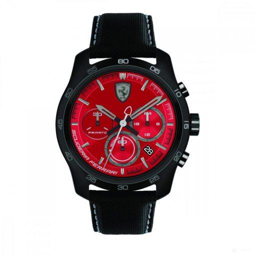 2019, Red-Black, Ferrari Primato Chrono Mens Watch
