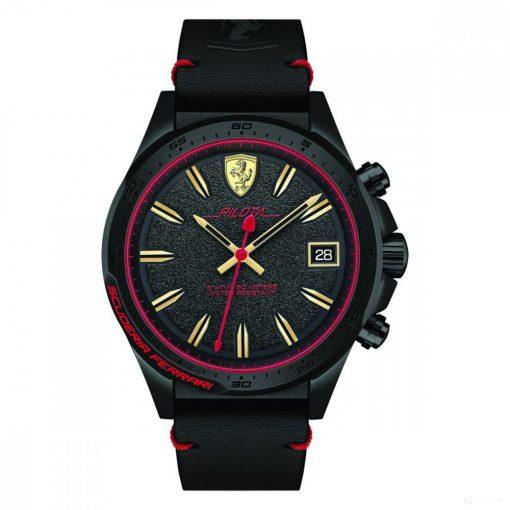 2019, Black-Red, Ferrari Pilota Only Time Mens Watch
