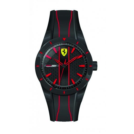 Ferrari Redrev Quartz Mens Watch, Black-Red, 2019 - FansBRANDS