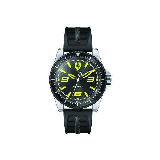 2019, Black-Yellow, Ferrari XX KERS Quartz Mens Watch