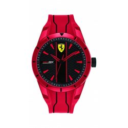 2019, Red, Ferrari Redrev Quartz Mens Watch