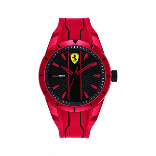 2019, Red, Ferrari Redrev Quartz Mens Watch