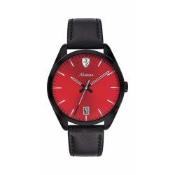 2019, Black-Red, Ferrari Abetone 3ATM Mens Watch