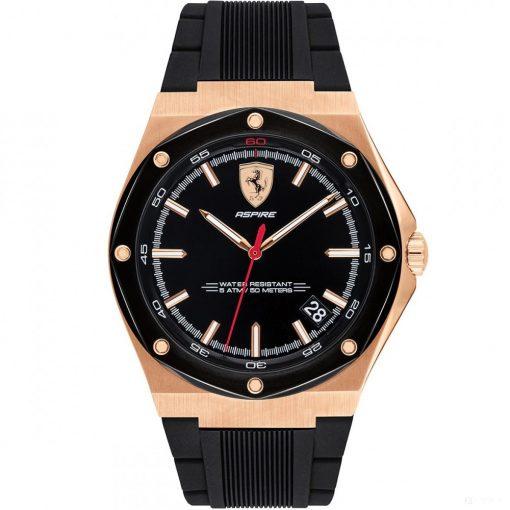 2019, Black-Gold, Ferrari Aspire 3HD Mens Watch