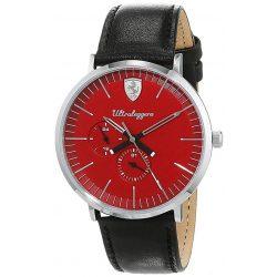 2019, Black-Red, Ferrari Ultraleggero Multifunction Mens Watch