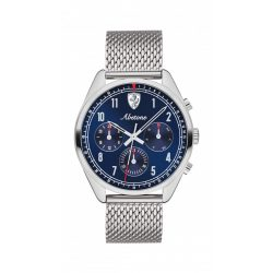 2019, Blue-Silver, Ferrari Abetone Mens Watch