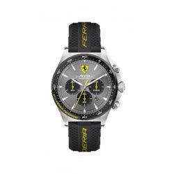 2019, Black-Yellow, Ferrari Pilota Chrono Mens Watch