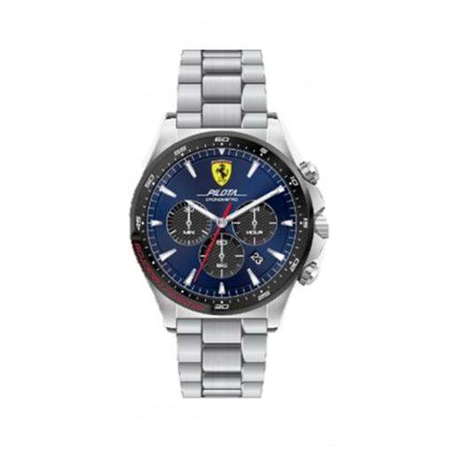 Ferrari Pilota Chrono Mens Watch, Blue, 2019 - FansBRANDS