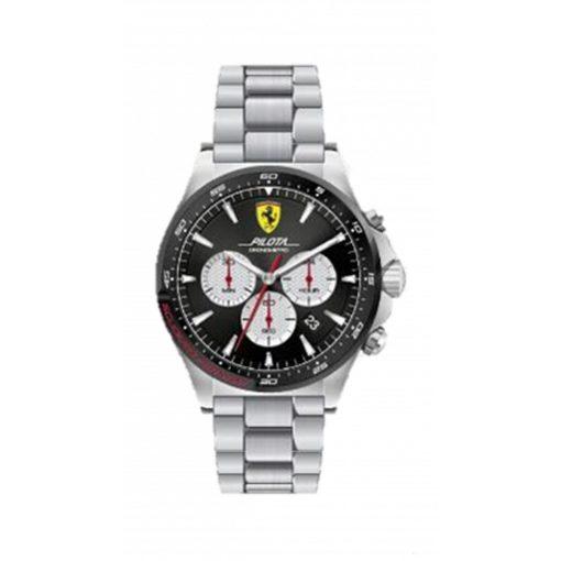 Ferrari Pilota Chrono Mens Watch, Black, 2019 - FansBRANDS