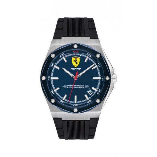2020, Black, Ferrari Aspire Quartz 3HD Mens Watch