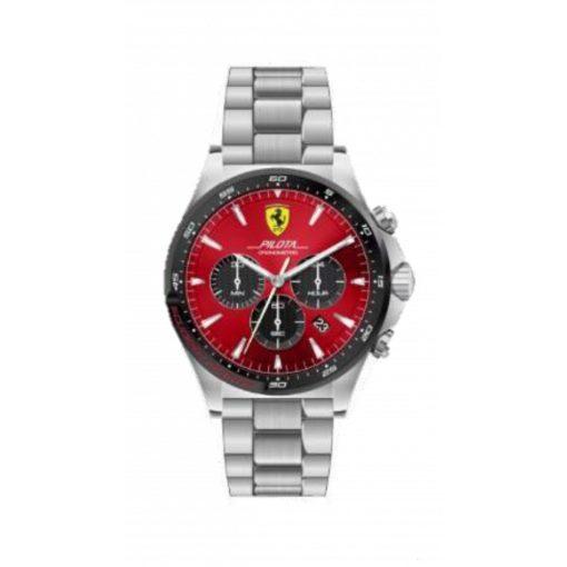 2019, Red, Ferrari Pilota Chrono Mens Watch