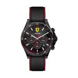 2019, Black-Red, Ferrari Pilota Chrono Mens Watch