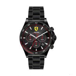 2019, Black-Gold, Ferrari Pilota Chrono Mens Watch