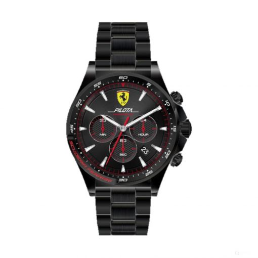 Ferrari Pilota Chrono Mens Watch, Black-Gold, 2019 - FansBRANDS