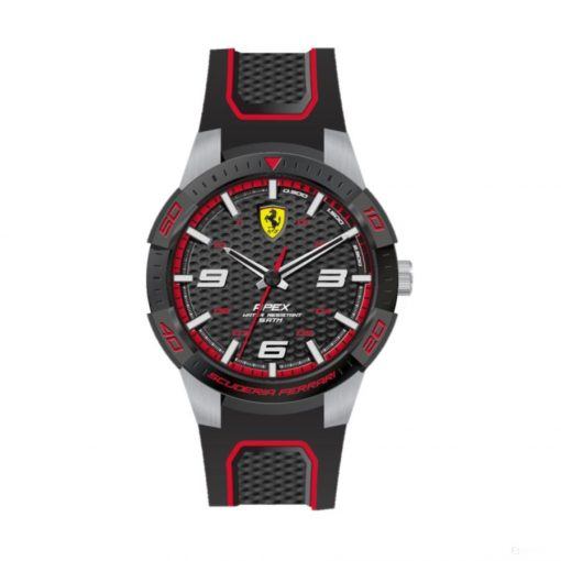 2019, Black-Red, Ferrari Apex Mens Watch