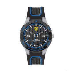2019, Black-Blue, Ferrari Apex Mens Watch