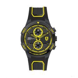 2019, Black-Yellow, Ferrari Apex MultiFX Mens Watch