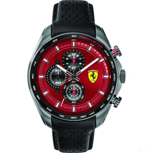 2020, Red-Black, Ferrari Speedracer Chrono Mens Watch