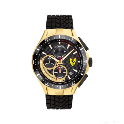 2020, Black, Ferrari Race Day Chrono Mens Watch