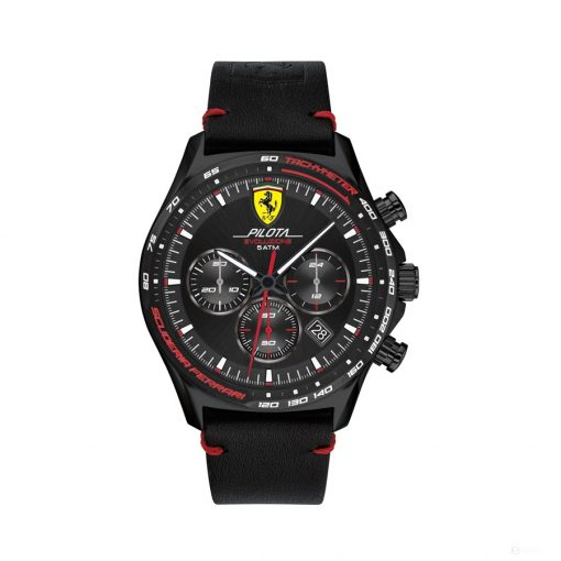2020, Black, Ferrari Pilota EVO Chrono Mens Watch