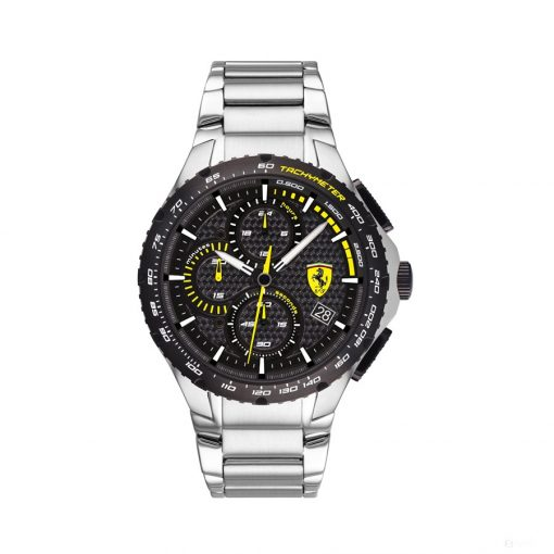 2020, Silver, Ferrari Pista Chronograph SS Mens Watch