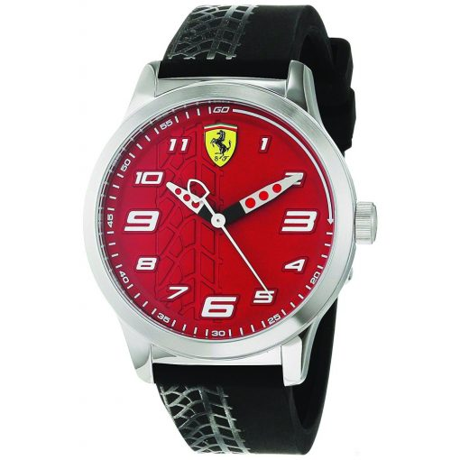 2019, Black, Ferrari Pitlane Mens Watch